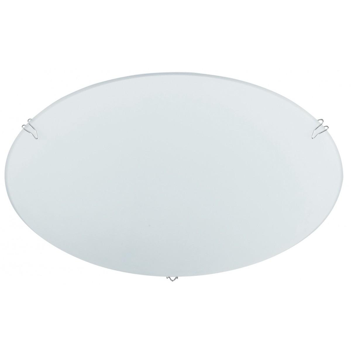 74/01212 - Plafoniera Lampada Moderna Tonda Vetro Bianco Interno E27