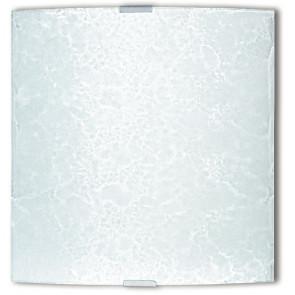 72/00212 - Applique Quadrata Bianca Vetro decoro Ghiaccio Interno Moderno E27