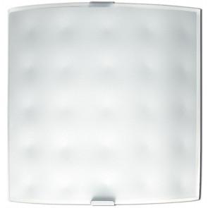 47/00312 - Applique Murale Carrée Blanche Verre Décoration Intérieure Moderne E27