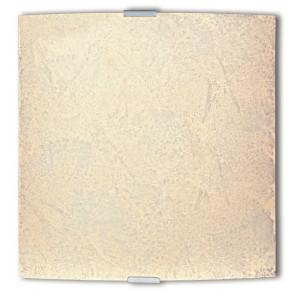 72/00112 - Applique Ambra Vetro Decoro Sabbia Quadrata Lampada da Parete Moderna E27