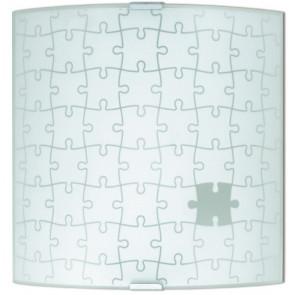 61/00601 - Applique murale Puzzle Carrée en Verre Intérieur Moderne E27