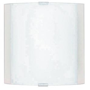 180/01812 - Applique murale carré en verre blanc avec bande d'applique E27