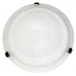248/01612 - Plafonnier en verre Alabastri blanc grec blanc classique intérieur rond E27