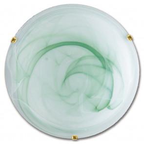 32/04410 - Plafoniera Tonda Vetro Sfumato Verde Lampada Classica E27