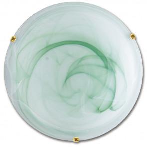 32/05912 - Plafoniera Vetro Sfumato Verde Tonda Classica Soffitto Parete E27