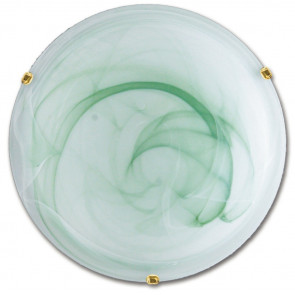 32/05912 - Plafonnier rond classique en verre dégradé vert dégradé E27