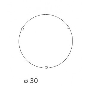 32/28101 - Plafoniera Vetro Sfumato Bianco Tonda Lampada Classica E27