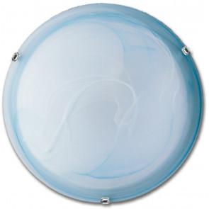 32/28901 - Plafoniera Vetro Sfumato Azzurro Classica Tonda E27