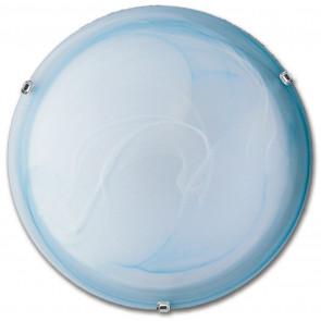 32/29001 - Plafoniera Tonda Vetro Sfumato Azzurro Classica Soffitto Parete E27