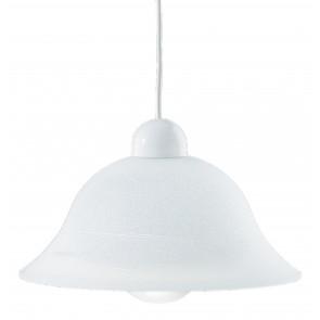 33/03315 - Sospensione paralume Campana Vetro Sfumato Bianco Lampadario Classico E27