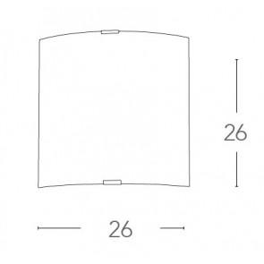 Applique Quadrata Vetro Decoro...