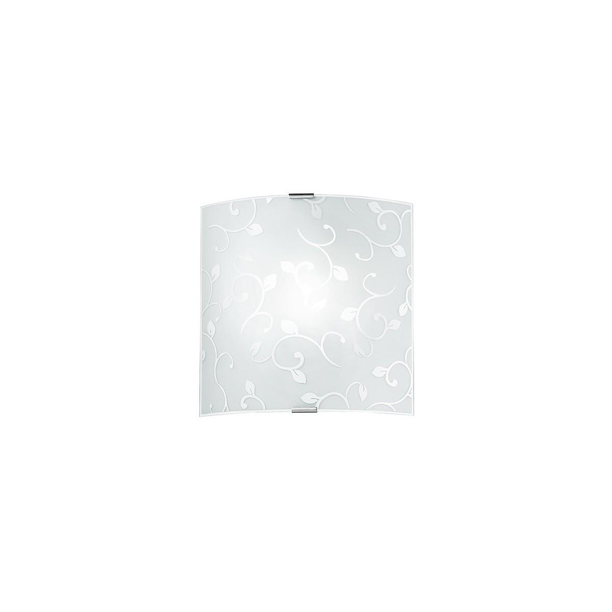 I-FLOREX/APS - Applique quadrata con motivo floreale 60 watt E27
