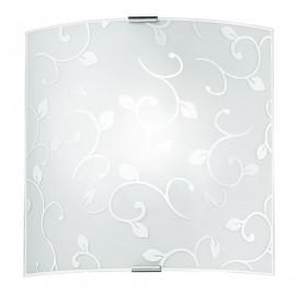 I-FLOREX / APS - Applique murale carrée à motif floral 60 watts E27