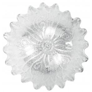 I-DEDALO/PL30 - Plafoniera simil fiore trasparente 60 watt E27