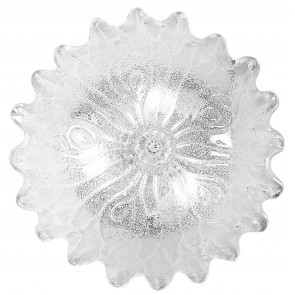 I-DEDALO / PL30 - Plafonnier imitation fleur transparent 60 watt E27