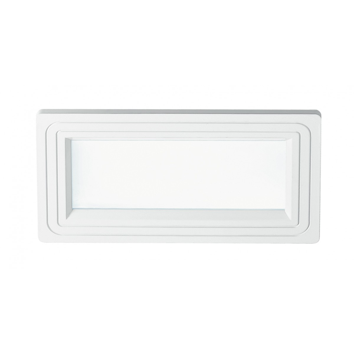 INC-FLAP-RT/12W - Faretto Incasso Alluminio Bianco Opaco Soffitto Ribassato Led 12 watt Luce Naturale
