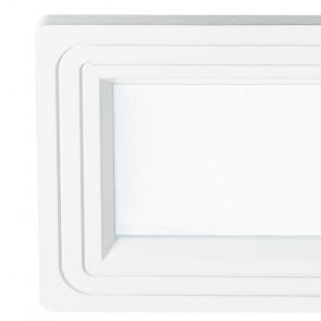 Struttura in Alluminio Pressofuso Bianco Opaco con Decoro Linea Flap