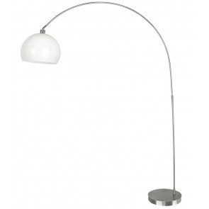 I-PLAZA/PT BCO - Lampada Arco Metallo Bianco Piantana Interno Moderno E27