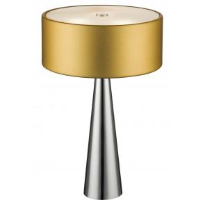 I-HEMINGUAY/L ORO - Lampada da Tavolo Oro Diffusore Vetro Fusto Conico Alluminio Interno Moderno G9