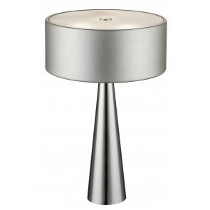 I-HEMINGUAY/L SIL - Lume Argento Moderno Fusto Alluminio Diffusore Vetro Lampada da Tavolo G9