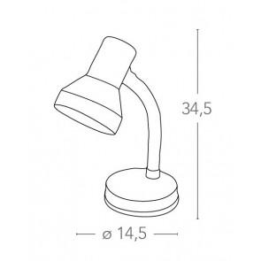 Lampe de Table Bureau Orange Réglable...