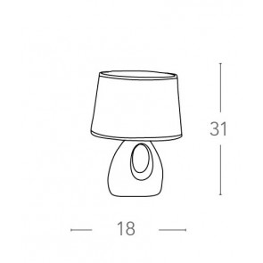 I-LPE018 RSO - Lampe de table rouge...