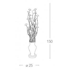 Lampadaire Vase Fils d'aluminium...