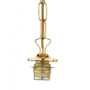 Sospensione a Catena con Porta Lampada E27