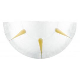 123000106001 - Vetro per  Applique Lunetta Bianco Raggi Ambra