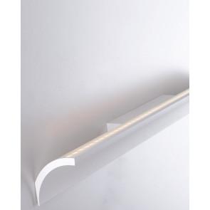 Barre en aluminium incurvée blanche...