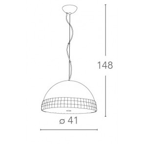 Lampadario Alluminio Argentato Fascia...
