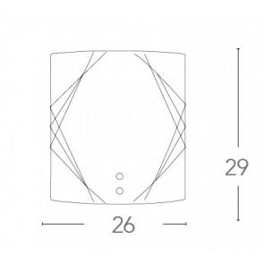 I-ROSITA/AP - Applique Quadrata Vetro...
