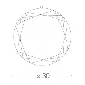 Plafonnier rond à décor géométrique...