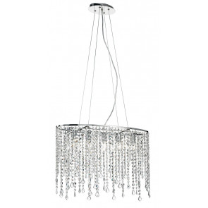 Lustre Suspension Ovale Pendentifs...