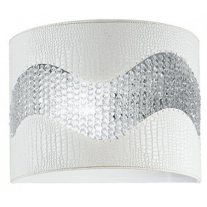 Applique Murale Blanc Eco-cuir Band Crystals K9 Applique Moderne E14