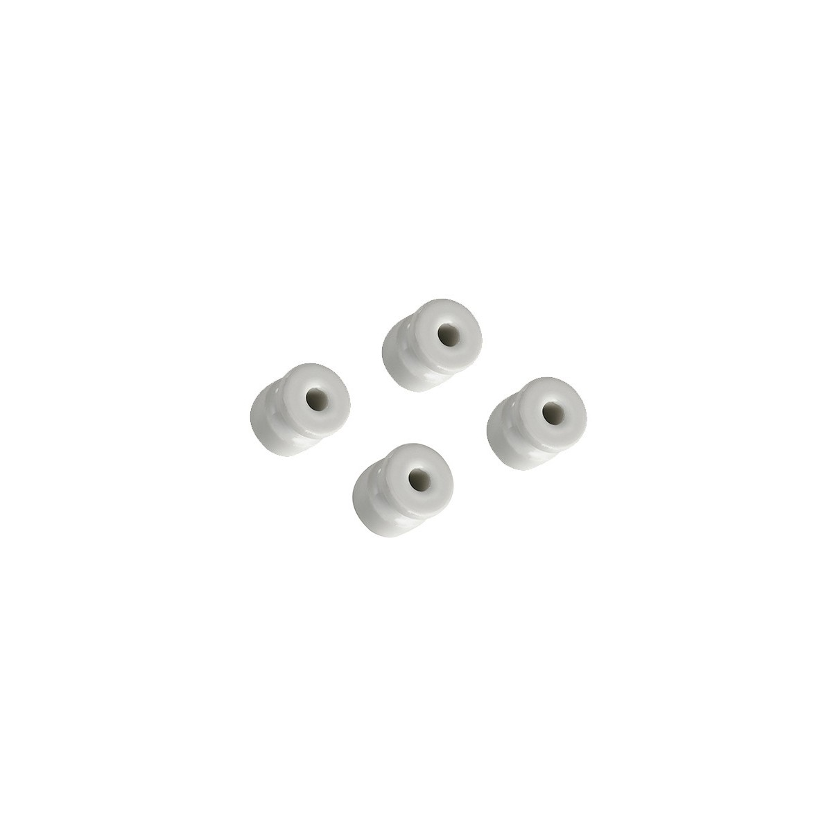 I-CLAY-ISOLATORI - Kit 4 Isolatori Porcellana Bianca