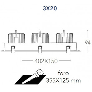 INC-APOLLO-3X20C - Spot trois...