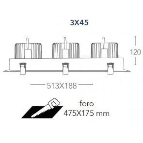 INC-APOLLO-3X45M - Projecteur Noir...