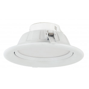 INC-EXIGE-12W - Faretto Tondo Alluminio Bianco Incasso Soffitto Ribassato Led 12 watt Luce Naturale