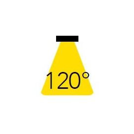 Raggio d'illuminazione di 120°