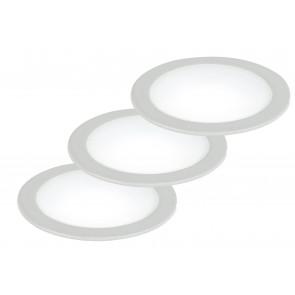 INC-FUSION-3X5W BCO - Kit 3 Faretti a Incasso Tondi Alluminio Bianco Led 10 watt Luce Naturale