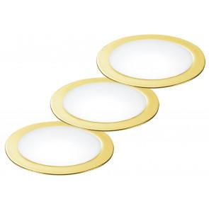 INC-FUSION-3X5W ORO - Kit 3 Faretti a Incasso Cartongesso Tondi Alluminio Oro Led 10 watt Luce Naturale