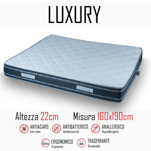 Materasso Luxury 160x190 in...