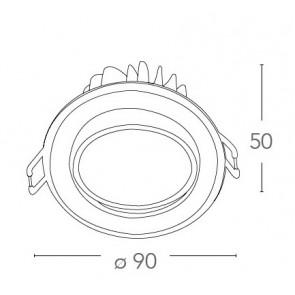 INC-KRONE-5C BCO - Spot rond en...