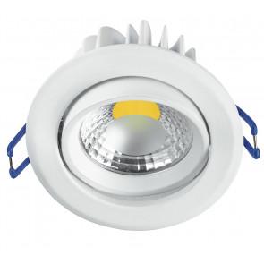 INC-KRONE-5C BCO - Faretto Tondo Alluminio Bianco Orientabile Incasso Led 5 watt Luce Calda