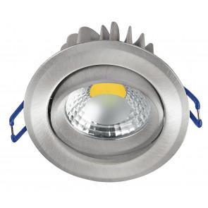 INC-KRONE-5C NIK - Faretto a Incasso Orientabile Tondo Alluminio Nikel Controsoffitto Led 5 watt 3200 K