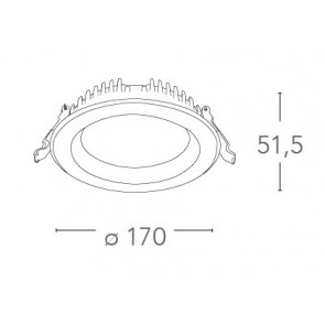 INC-LYRA-10F - Spot encastré rond en...
