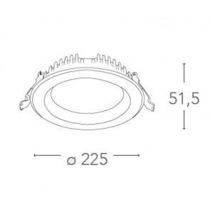 INC-LYRA-30F - Spot encastré rond en...