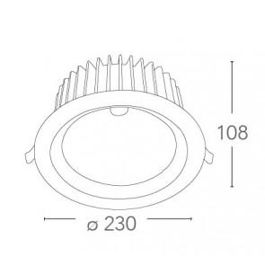 INC-LYRA-60F - Spot rond en aluminium...