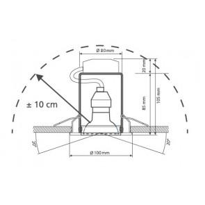 Kit 3 projecteurs ronds orientables...